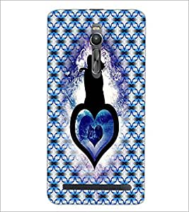 PrintDhaba Couple D-4564 Back Case Cover for ASUS ZENFONE 2 (Multi-Coloured)