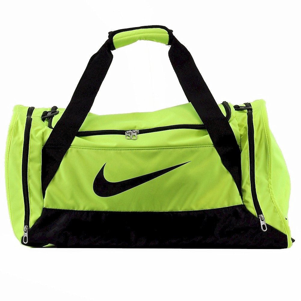 New Nike Brasilia 6 Medium Duffel Bag Volt/Black/Black