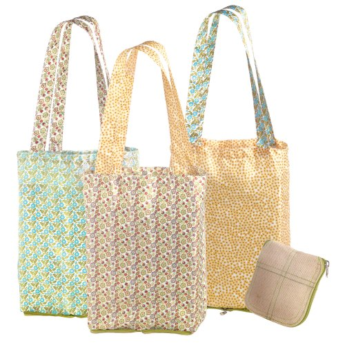Grasslands Road Spring Meadow Farmers Market Tote Assortment, 23-Inch, Set Of 6