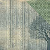 Authentique Paper 18 Sheets History Tree Design Woodgrain/Lace Legacy Double Sided Cardstock, 12 x 12