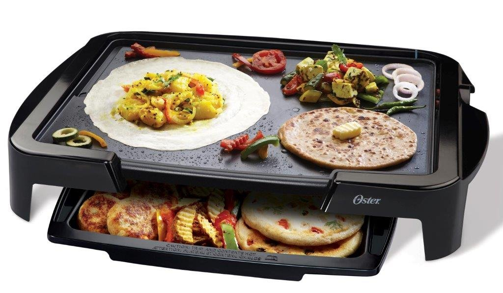 Oster 5770 1500-Watt Electric Griddle with Warming Tray (Black)