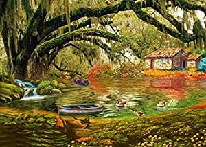 The beautiful scenery under the big tree oil for Oil paintings for sale amazon