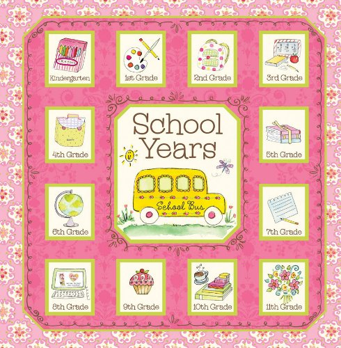 School Years Book Girl Album Bus Pink Dena Designs - 1