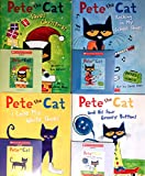 4 Pete the Cat Books and 4 CDs Pack (Books and audio CDs) : Pete the Cat Saves Christmas / Pete the Cat and His Four Groovy Buttons / Pete the Cat: I Love My White Shoes / Pete the Cat: Rocking in My School Shoes