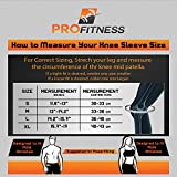 Knee Sleeve (1 Pair) - Best Squat Knee Support & Compression for Powerlifting, Olympic Weightlifting, Crossfit, & Bodybuilding exercise - 7mm Neoprene Knee Sleeves - For Men & Women (Small , Red)