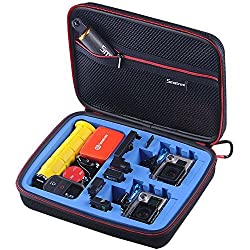 Smatree SmaCase G260sw Medium Large Gopro Case for Gopro Hero4, 3+, 3, 2, 1 Cameras and Essential Accessories (10.6