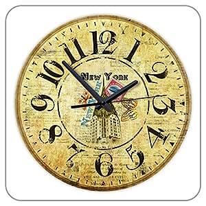 12inch Quiet Clock Movement Wall Clock Vintage Antique Retro Style Home Design