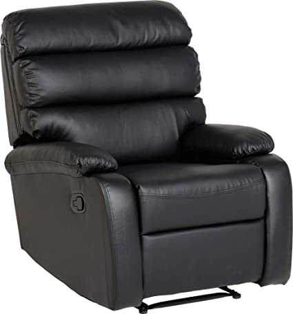 Bellamy Recliner Chair Black Faux Leather