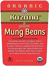 Kazana Whole Foods Organic Yellow Mung beans 16 oz 453g Pack of 10