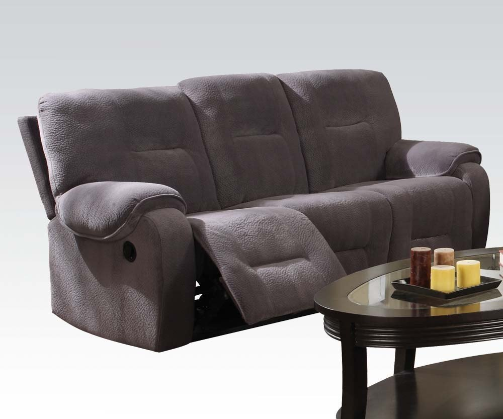 1PerfectChoice Villa Light Gray Champlon Reclining Sofa