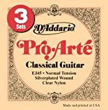 DAddario EJ45-3D Pro-Arte Nylon Classical Guitar Strings, Normal Tension, 3 Sets