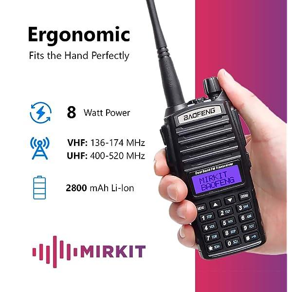 BAOFENG UV-82 8W ACTUALIZADO RADIO BIDIRECCIONAL WALKIE TALKIE RADIO PORTÁTIL DE DOBLE BANDA VHF UHF