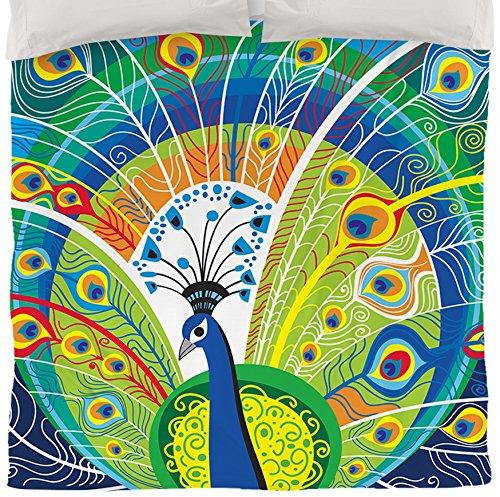 Peacock Print Bedding Set front-130428