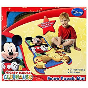Amazon Com Disney Mickey Mouse Clubhouse 25 Piece Floor
