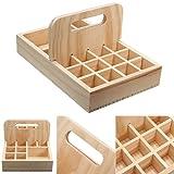 Essential Oil Bottle Storage Organizer Wooden Box
