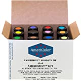 Food Coloring AmeriColor AmeriMist Airbrush Kit, 12 .65 Ounce Bottles (Color: Assorted, Tamaño: 12)