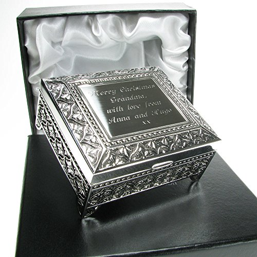 Grandma Christmas Gift, Engraved Silver Plated Trinket Box in a Satin Lined Presentation Box, Grandma Gift Ideas