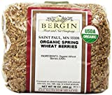 Bergin Nut Company Organic Wheat Berries, 16-Ounce Bag (Pack of 12)