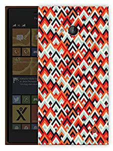 "Humor Gang Geometric Ethnic Pattern Printed Designer Mobile Back Cover For ""Nokia Lumia 730"" (3D, Matte, Premium Quality Snap On Case)"