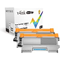 V4INK 2-Pack Replacement for Brother TN450 TN420 Black Toner Cartridge