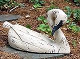 Water Fowl 19 in. Swan Demure in Vintage Blanc