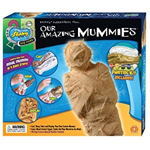 POOF-Slinky 07452 Scientific Explorer Our Amazing Mummies Model Kit with Plaster and 48-Page Fun and Fact Manual, 8-Activities by Slinky Science TOY (English Manual)