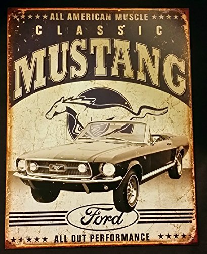 Classic Mustang Distressed Retro Vintage Tin Sign