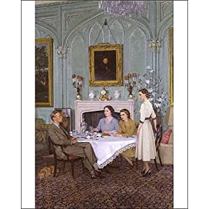 Photographic Print of Conversation piece at the Royal Lodge, Windsor (King George VI; Queen from National Portrait Gallery