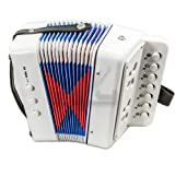 SKY Accordion White Color 7 Button 2 Bass Kid Music Instrument Easy to PlayGREAT GIFT