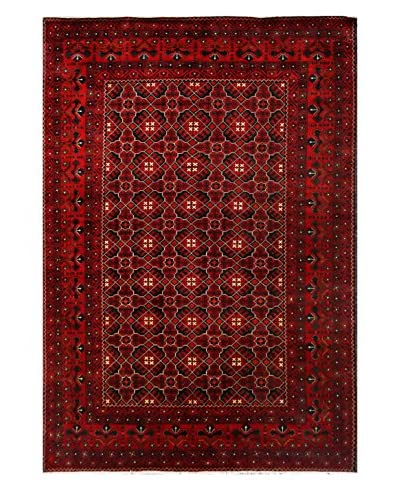 Bashian Rugs One-of-a-Kind Afghan Rug, Red, 6' 6 x 9' 5