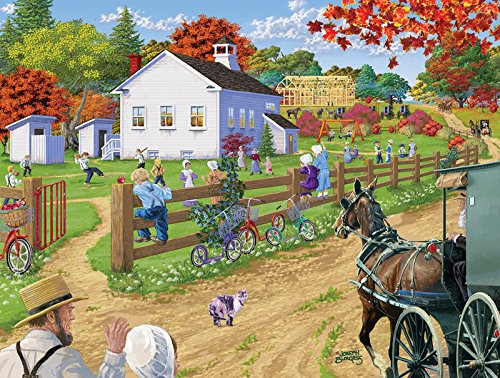 SunsOut Amish Schoolyard Jigsaw Puzzle (500-Piece)