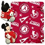 NCAA Alabama Crimson Tide 40x50-Inch Throw with 14-Inch Hugger