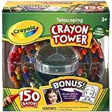 Crayola 150-Count Telescoping Crayon Tower, Storage Case, Sharpener, (52-0029) by Binney & Smith, Inc.