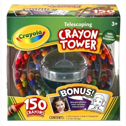 Crayola 150-Count Telescoping Crayon Tower, Storage Case, Sharpener, (52-0029) By Crayola front-1034427
