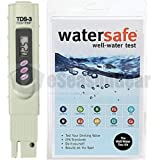 TDS3 + WS-425W, TDS ppm Meter + Watersafe Well Drinking Water Test Kit, Bacteria, Lead, Pesticide, Nitrate / Nitrite, pH, Hardness, Chlorine, Copper, Iron