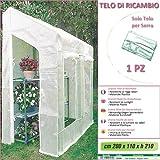 Betty Garden Telo NEW Ricambio per Serra (200 x 110 x h 210 cm) - Teli per Serre