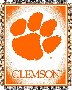 Clemson Jacquard Woven Throw Blanket by Northwest