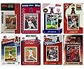 MLB Los Angeles Angels Men's 8 Different Licensed Trading Card Team Sets