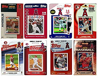 MLB Los Angeles Angels Men's 8 Different Licensed Trading Card Team Sets