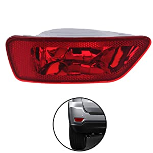 MORFORKIT Reflector Light Rear Right Fog Lamp Cover Compatible with Jeep Compass Grand Cherokee 2011 to 2017,Dodge Journey 2012 to 2018