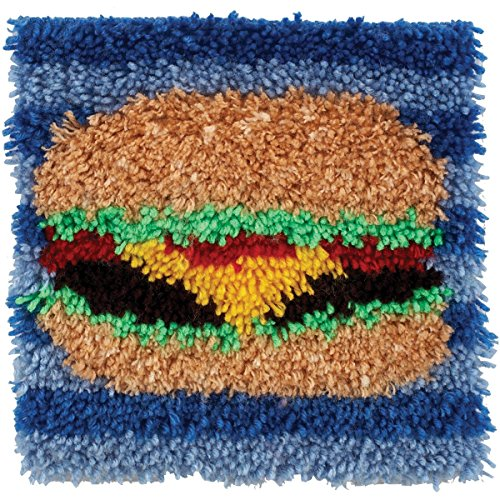Spinrite Wonderart Latch Hook Kit, 12 by 12-Inch, Hamburger