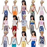 Toy - E-TING 5 Sets=5 Clothes Outfit 5 Trousers Pants for Barbie Doll Random Style