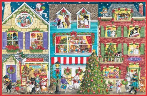 Caspari Christmas Cards.Caspari Village With Animals Christmas Cards Box Of 16