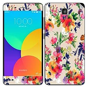 Theskinmantra Paint Flower Xiaomi Mi4 mobile skin