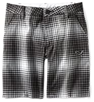 Puma Golf Boy's Ombre Plaid Bermuda from Puma Golf NA