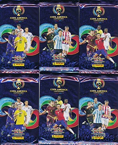 2016-Panini-Adrenalyn-Copa-America-Centenario-Collection-with-6-Factory-Sealed-Packs-36-Cards-Look-for-Top-Soccer-Superstars-Lionel-MessiLuis-SuarezNeymar-Jr-Many-More-Very-Rare-Imported