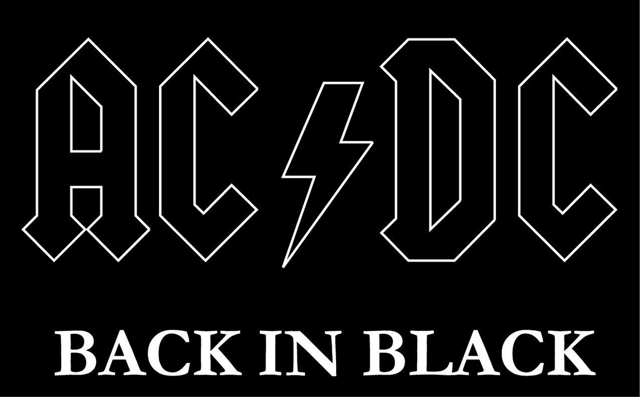 AC/DC Back in Black Music Alta Calidad De Coche De Parachoques Etiqueta Engomada 12 x 10 cm   revisión y descripción más