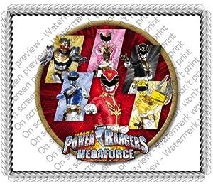 1/4 Sheet ~ Power Rangers Megaforce ~ Edible Image Cake/Cupcake Topper!!!