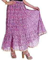 Ceil Women's Cotton Skirt (Pink)