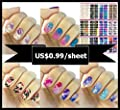 12 Premium Sheets($0.99/pc) - Love Nest Nail Art Tips Stickers False Nail Design Manicure Decals Nail Art Water Nail Art Decal / Tattoo / Sticker